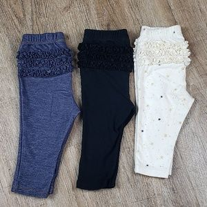 3 Pairs -Old Navy Infant Girl Ruffle Butt Pants